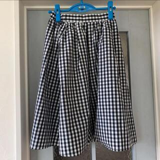 テチチ(Techichi)のフレアスカート ギンガムチェック  スカート(ひざ丈スカート)