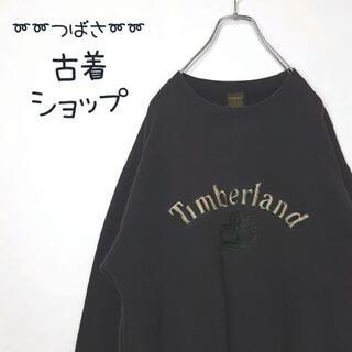 ティンバーランド(Timberland)の【90s】Timberland 刺繍 デカロゴ 古着 ビックロゴ スウェパカ M(スウェット)