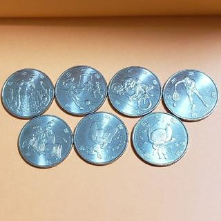 オリンピック記念硬貨  4次  100円硬貨 7種類 1セット(貨幣)