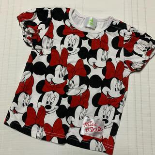 ディズニー(Disney)のDisney ミニーマウス総柄Tシャツ 70cm(Tシャツ)