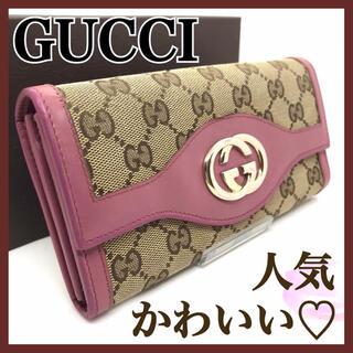 Gucci - GUCCI グッチ スーキー GGキャンバス インターロッキング 長財布