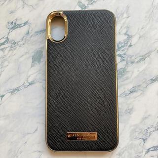 ケイトスペードニューヨーク(kate spade new york)の【人気】ケイトスペード iPhone X XSケース サフィアーノ 黒(iPhoneケース)