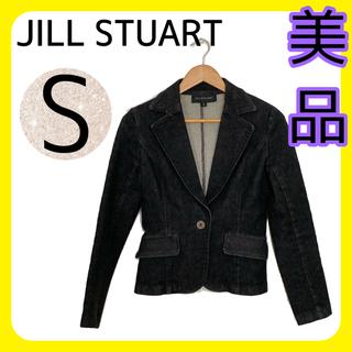 ジルスチュアート(JILLSTUART)のJILL STUART ジルスチュアート デニムジャケット ブラック グレー S(Gジャン/デニムジャケット)