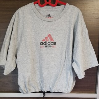 アディダス(adidas)のadidas/アディダス/SPINNS/スピンズ/古着/半袖/Tシャツ/グレー(Tシャツ(半袖/袖なし))
