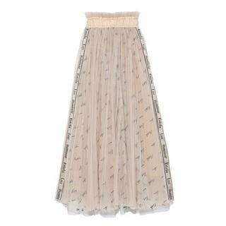 スナイデル(snidel)の売り切り価格❤️SNIDEL❤️新品❤️ロゴ刺繍チュールスカート(ロングスカート)