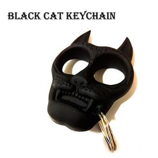 黒猫 キーホルダー キーリング(キーホルダー)