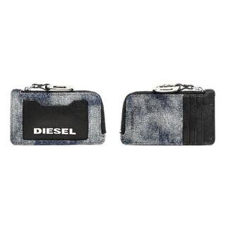 ディーゼル(DIESEL)のDIESEL フラグメントケース 限定デニム コイン カード レザー 本革(パスケース/IDカードホルダー)
