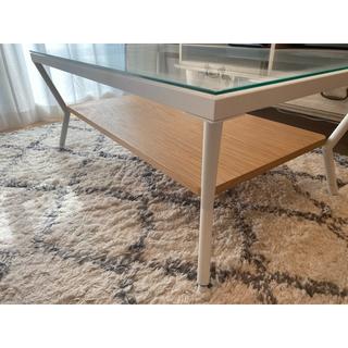 Francfranc - フランフランローテーブル・francfranc・北欧系・モダン・ガラステーブル