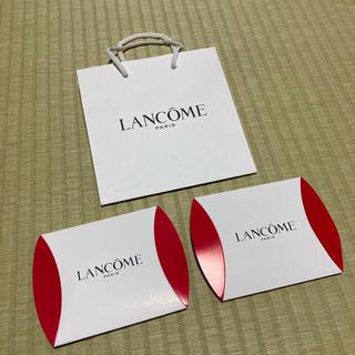 ランコム(LANCOME)のランコム化粧品ショッパー1枚とサンプルケース2つ(ショップ袋)