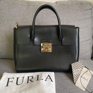 Furla - FURLA フルラ メトロポリス 黒 美品