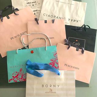 ピーチジョン(PEACH JOHN)のブランド ショップ紙袋 8枚セット(ショップ袋)