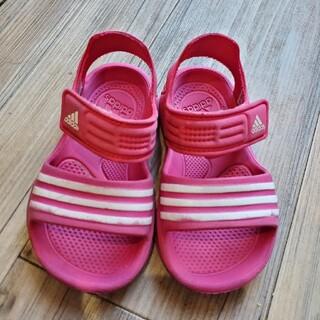 アディダス(adidas)の【adidas】キッズ サンダル シューズ ピンク 14cm(サンダル)