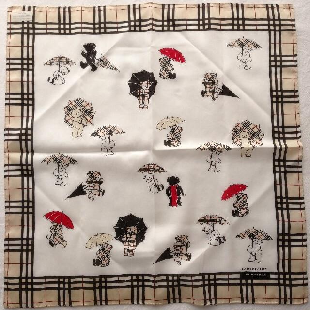 BURBERRY(バーバリー)のBURBERRY/バーバリーハンカチ☆クマさん レディースのファッション小物(ハンカチ)の商品写真