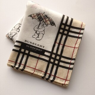 BURBERRY - BURBERRY/バーバリーハンカチ☆クマさん