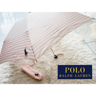 POLO RALPH LAUREN - ラルフローレン ポロ 折り畳み傘 ピンク ストライプ