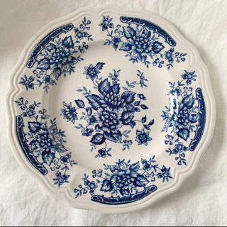 NIKKO - ニッコーブルーカーネーション食器昭和レトロ花リムプレート小皿取り皿サルグミンヌ