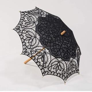 シャンタルトーマス(Chantal Thomass)のミステリアスな貴婦人の黒レースの日傘【1882】(傘)