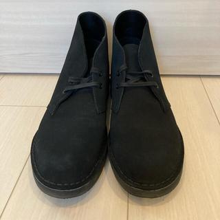 クラークス(Clarks)のクラークス デザートブーツ2  ブラックスエード 27cm(ブーツ)