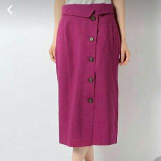 テチチ(Techichi)の麻調 ペンシルスカート(ひざ丈スカート)