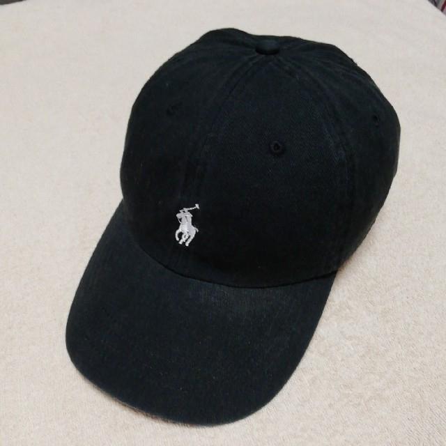 POLO RALPH LAUREN(ポロラルフローレン)のポロラルフローレン キャップ(黒&白) メンズの帽子(キャップ)の商品写真
