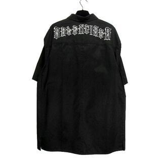Balenciaga - バレンシアガBALENCIAGA■19SSゴシックロゴオーバーサイズシャツ