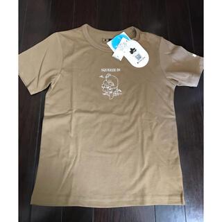 GLOBAL WORK - グローバルワーク★ロゴスコラボTシャツ140新品ベージュ