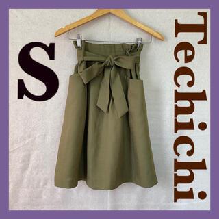 テチチ(Techichi)のTechichi カーキ リボン スカート(ひざ丈スカート)