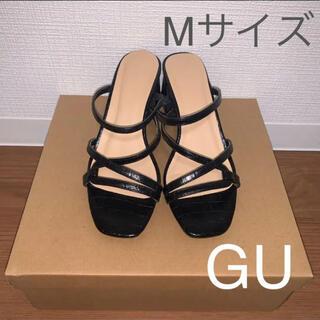ジーユー(GU)のGU クロコ ナローベルト 型押し サンダル(サンダル)