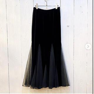 サンタモニカ(Santa Monica)のvintage❤️velours tulle flare skirt(ロングスカート)