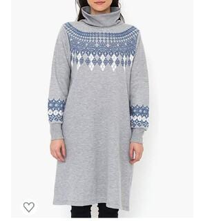 グラニフ(Design Tshirts Store graniph)のグラニフ ハイネック スウェット ワンピース(ひざ丈ワンピース)