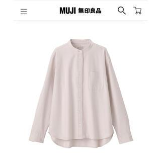 ムジルシリョウヒン(MUJI (無印良品))の無印良品 洗いざらし オックススタンドカラーシャツ S サンドベージュ(シャツ/ブラウス(長袖/七分))