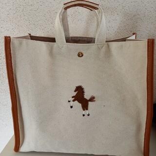 セブンテン♠️馬刺繍バッグ(大)