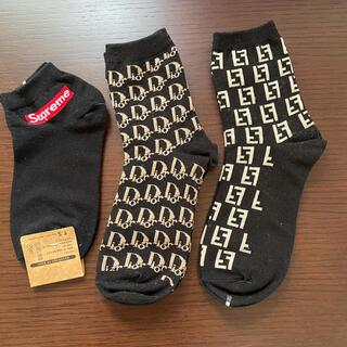 Dior   FENDI   supreme   ブラック靴下❣️