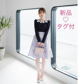 トッコ(tocco)の新品タグ付♡トッコクローゼット タックグログランスカート(ひざ丈スカート)