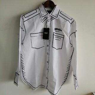 FENDI - 未使用、美品 フェンデイ FENDI メンズ 長袖 シャツ Lサイズ