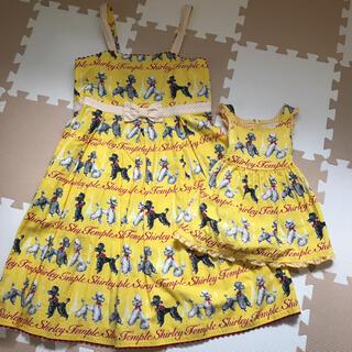 シャーリーテンプル(Shirley Temple)のシャーリーテンプル プードルワンピース 90.160サイズ 親子コーデセット(ワンピース)