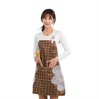 キッチン エプロン タオル 防水 耐油性 ポケット 有り ベルト で調整可能(日用品/生活雑貨)