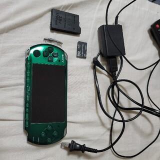 プレイステーションポータブル(PlayStation Portable)のPSP 3000 スピリットグリーン 動作品(携帯用ゲーム機本体)