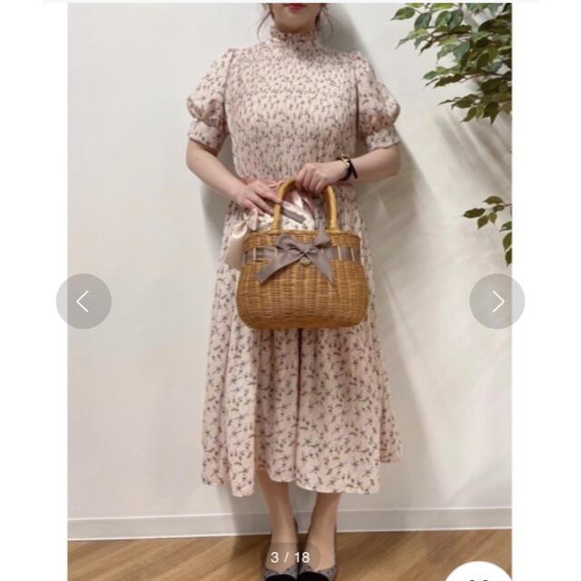 Maison de FLEUR(メゾンドフルール)のラタンリボンカゴバッグ*メゾンドフルール  レディースのバッグ(かごバッグ/ストローバッグ)の商品写真