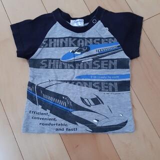 サンリオ(サンリオ)のサンリオ 新幹線 シンプル グレー×黒 80 Tシャツ(Tシャツ)