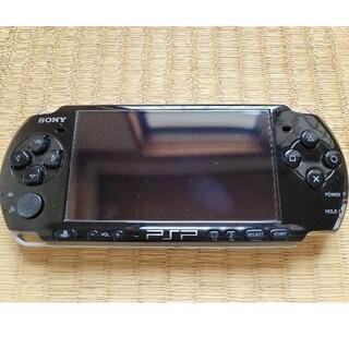 プレイステーションポータブル(PlayStation Portable)のPSP 3000番 動作品 ピアノブラック ジャンク扱い 本体のみ(携帯用ゲーム機本体)