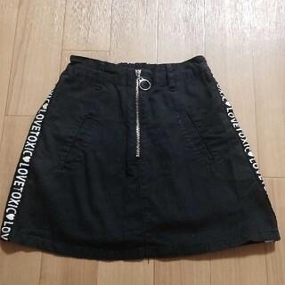 lovetoxic - ラブトキシック 台形スカート 黒 M 150