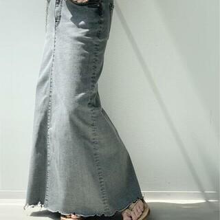 アパルトモンドゥーズィエムクラス(L'Appartement DEUXIEME CLASSE)のアパルトモン GOOD GRIEF/グッドグリーフDENIM LONG スカー(ロングスカート)