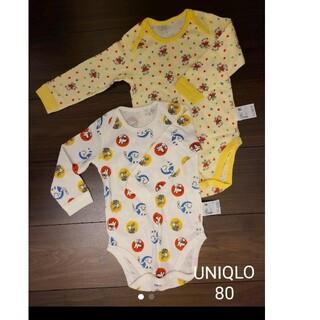 ユニクロ(UNIQLO)のUNIQLO ユニクロ クルーネックボディスーツ 80 肌着(肌着/下着)