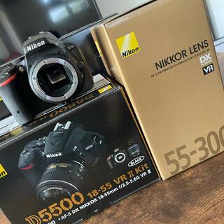 ニコン(Nikon)の美品 D5500 ダブルズームキット 2416万画素 一眼レフ(デジタル一眼)