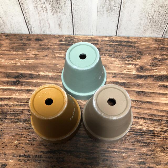 リメイク鉢 シンプル3個セット ハンドメイドのフラワー/ガーデン(プランター)の商品写真
