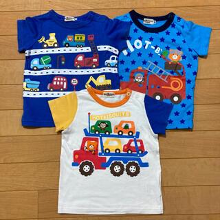 ミキハウス(mikihouse)のミキハウス Tシャツ 3枚セット ホットビスケッツ 80(Tシャツ)