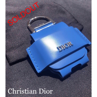 クリスチャンディオール(Christian Dior)の【未使用新品】DIOR × AirPods leather Case Blue (その他)