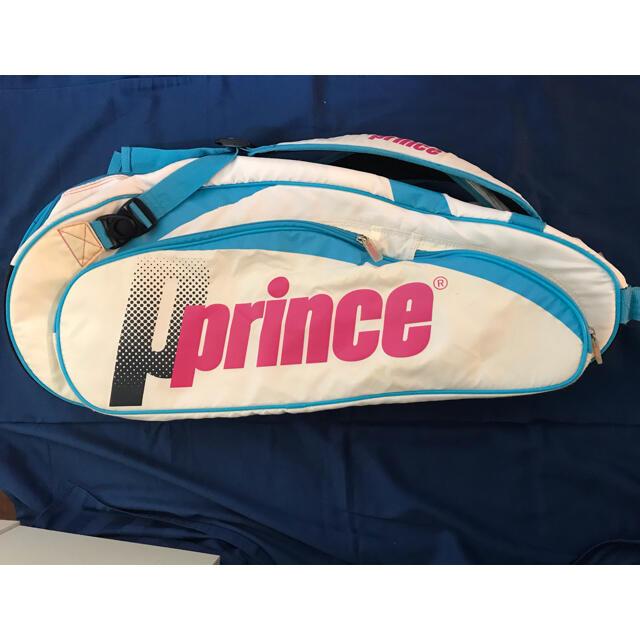 Prince(プリンス)のプリンス ラケットバッグ  白 ラケットケース スポーツ/アウトドアのテニス(バッグ)の商品写真