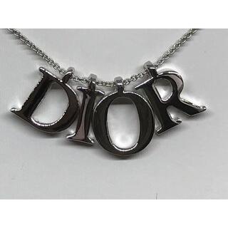 クリスチャンディオール(Christian Dior)のクリスチャンディオール  Dior シルバーDiorロゴヴィンテージ ネックレス(ネックレス)